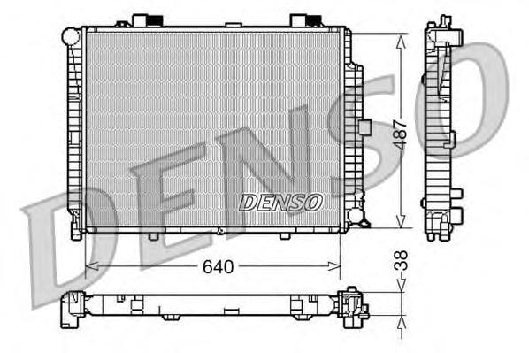 DRM17086 Радиатор системы охлаждения MERCEDES-BENZ: E-CLASS (W210) E 300 D (210.020)/E 420 (210.072)/E 430 (210.070)/E 430 4-mat