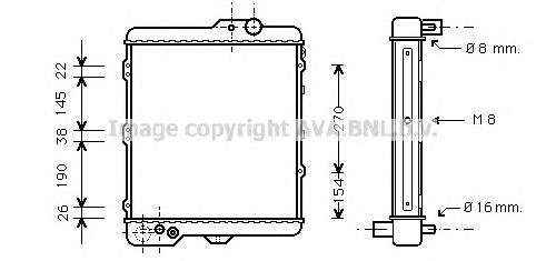 AI2002 Радиатор VAG A80 1.9-2.2 85-93