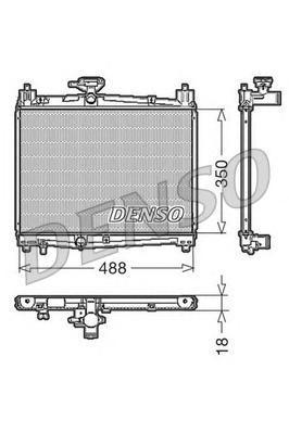 DRM50001 Радиатор системы охлаждения TOYOTA: YARIS (P1) 1.0 16V/1.0 16V (SCP10) 99 -