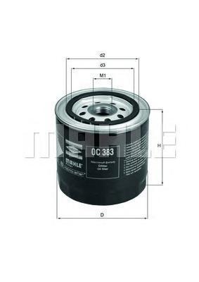 OC383 Фильтр масляный LADA 01-07/NIVA 1200-1700/FIAT 124 1.4-1.8 75
