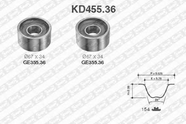 KD45536 Комплект ГРМ Fiat Ducato 2.8TDI  Master II S9W