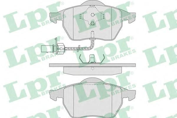 05P790 Колодки тормозные AUDI A4/A6/VOLKSWAGEN PASSAT 97 передние