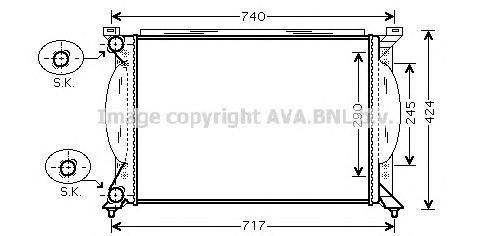 AI2195 Радиатор VAG A4 1.6-2.0/1.9TD/2.0TD 01-05