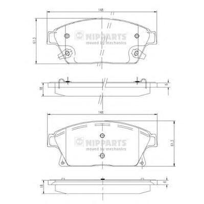 "N3600915 Колодки тормозные CHEVROLET CRUZE/OPEL ASTRA J 16"" 10- передние"