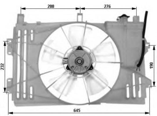 47053 Вентилятор в сб. TO Corolla (E120)