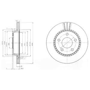 BG2519 Диск тормозной AUDI 100/200 quattro 84-90/A8 2.8-4.2 94-02 задний