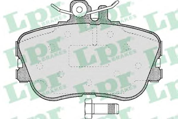 05P492 Колодки тормозные MERCEDES W202 93-00 передние
