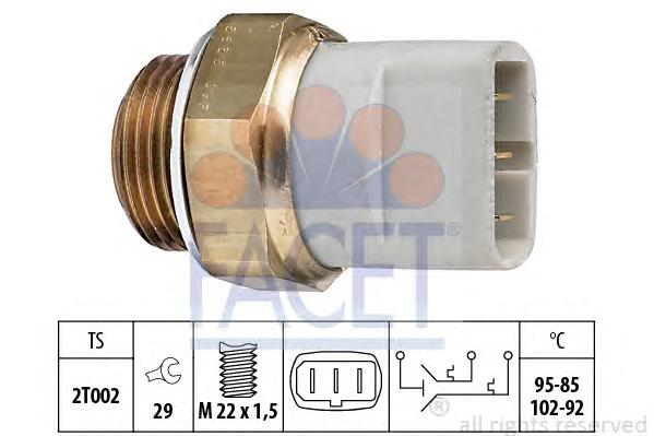 75635 Датчик включения вентилятора AUDI: 100 (44, 44Q, C3) 1.8 KAT/2.0 KAT/2.0 D Turbo/2.2 KAT/2.2 Turbo/2.3 E/2.4 D/2.5 TDI 82-