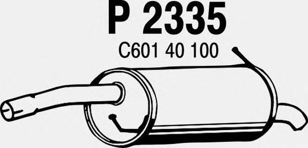 p2335 Глушитель выхлопных газов конечный