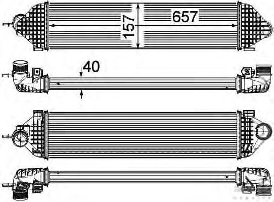 8ML376755621 Интеркулер FORD FOCUS/C-MAX 1.6T 10-