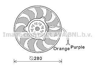 AI7517 Вентилятор радиатора AUDI A6 2.4-3.2/2.0TDI 04-