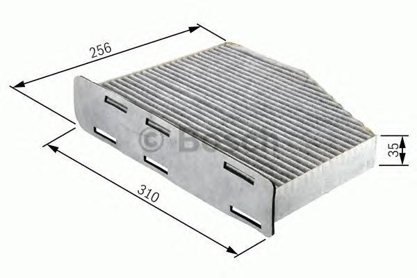 1987432381 Фильтр салона MB W211/C219 угольный