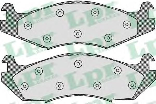 05P312 Колодки тормозные JEEP CHEROKEE 2.1-5.9 83-90/WRANGLER 2.5-4.2 86-91 передние