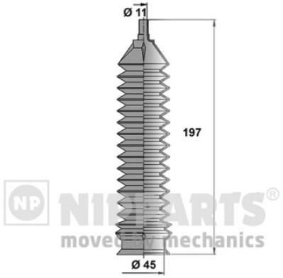 J2840902 Пыльник рулевой тяги CHEVROLET/DAEWOO