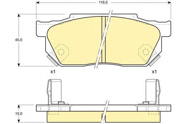 6103259 Колодки тормозные HONDA CIVIC/CRX/PRELUDE 83-95 передние