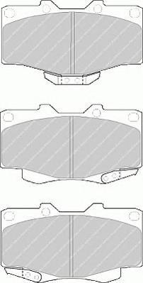 FDB797 Колодки тормозные TOYOTA LAND CRUISER 70/80/90/4 RUNNER 87- передние
