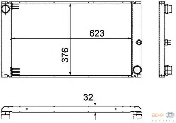 8MK376727661 Радиатор системы охлаждения BMW: 7 (E65, E66) 730 Ld/730 d/745 d 01-