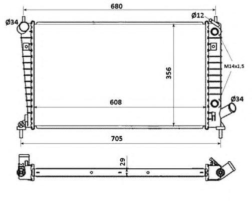 58349 Радиатор SAAB 9-5 2,0-2,3 AUT 02-