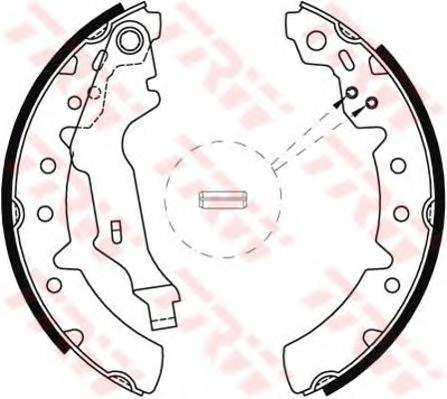 GS8603 Колодки тормозные барабанные задн TOYOTA: CARINA E 92-97, CARINA E Sportswagon 93-97, CARINA E седан 92-97, CARINA II 88-