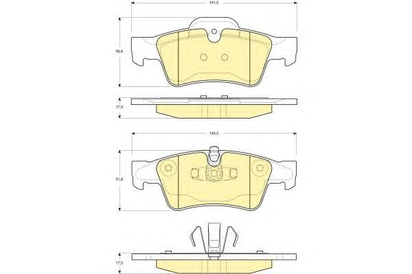 6116432 Колодки тормозные MERCEDES-BENZ W164 ML 05/W251 R-CLASS 06 задние