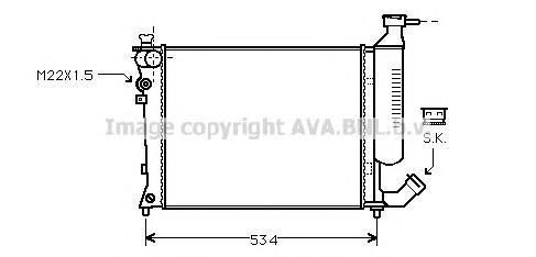CNA2154 Радиатор CITROEN XSARA 1.4/1.6 93-05