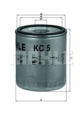 KC5 Фильтр топливный TOYOTA HIACE/CRESSIDA