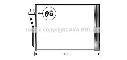 BW5371 Конденсер BMW F01-F04 4.4-6.0 08-