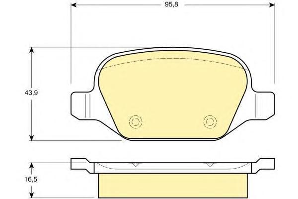 6113961 Колодки тормозные ALFA ROMEO 147 01-/156 02-05/FIAT LINEA 07- задние