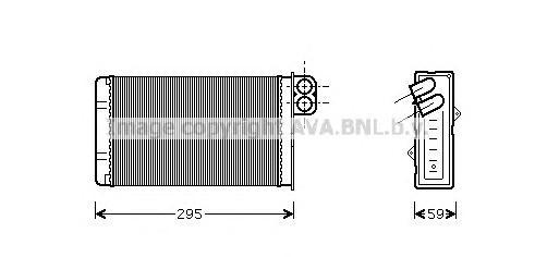 PEA6240 Радиатор отопителя PEUGEOT 406 1.8-3.0/1.9-2.2D 96-04