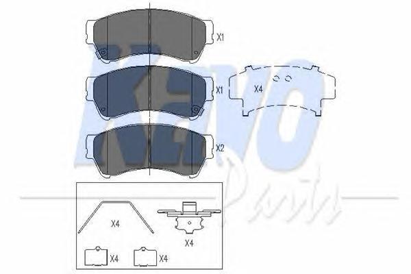 KBP4557 Колодки тормозные MAZDA 6 1.8-2.5 08- передние