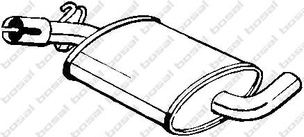 233407 Резонатор VW GOLF/JETTA 1.0/1.3/1.6 85-92