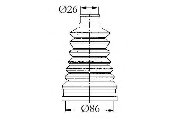 4003440 Пыльник ШРУСа RENAULT 19/CLIO/KANGOO/LAGUNA/SAFRANE/TWINGO 1.2-1.9D 89-05 нар.