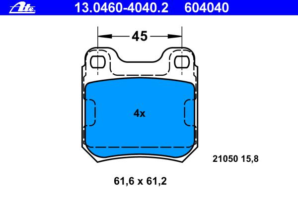13046040402 Колодки тормозные дисковые, комплект