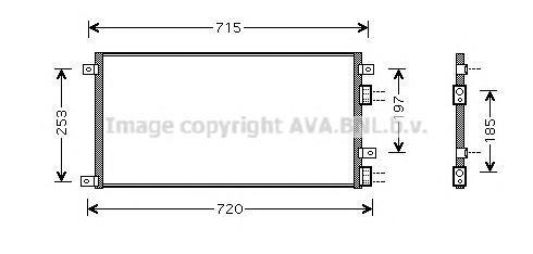 IVA5058 Конденсер IVECO DAILY 2.2D/2.8D 99-