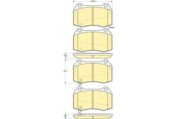 6133819 Колодки тормозные NISSAN 350Z 03- передние