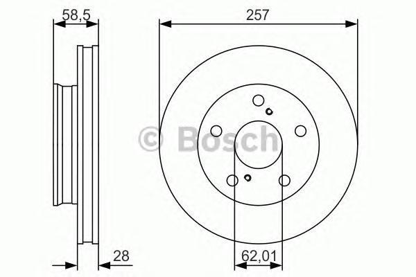 0986479R53 Диск тормозной передн TOYOTA: HILUX III пикап (TGN1_, GGN2_, GGN1_, KUN2_, KUN1_) 2.0/2.5 D 4WD/2.5 D-4D 05-