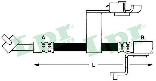 6T46658 Шланг тормозной M10x1x361 mm пер.лев Escort