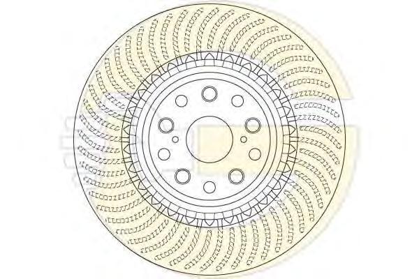 6064885 Диск тормозной LEXUS LS460-600 передний правый вент.D=357мм.