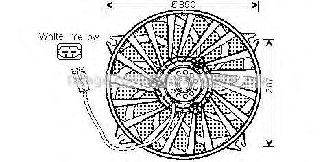 cn7526 Вентилятор охлаждения радиатора