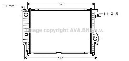BW2102 Радиатор BMW E34 3.0-3.8 88-98