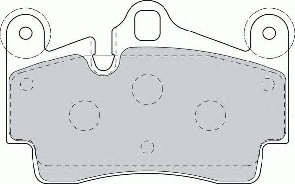 FDB1627 Колодки тормозные VOLKSWAGEN TOUAREG 03/PORSCHE CAYENNE 03 задние