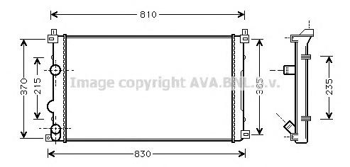 RTA2322 Радиатор RENAULT MASTER 2.2D-2.5D 00-