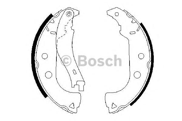 0986487629 Колодки тормозные барабанные задн FIAT: DOBLO 01-, DOBLO Cargo 01-