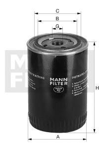 WP92881 Фильтр масляный MITSUBISHI L200/L300/PAJERO 1.8D-2.5D/HYUNDAI PORTER/H-1 2.5D