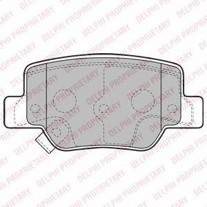 LP2193 Комплект тормозных колодок