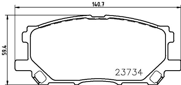 8DB355010071 Колодки тормозные LEXUS RX300/RX330/RX350 0308/RX400H 0509 передние
