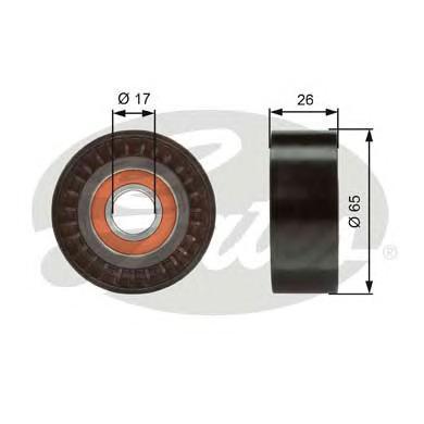 T36376 Ролик ремня приводного AUDI Q7/VW TOUAREG 2.7D-4.2D