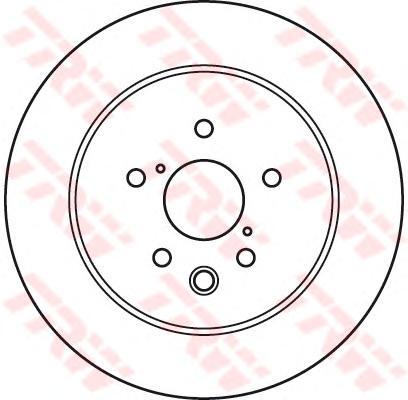 DF6063 Диск тормозной LEXUS GS300/GS450H 05-/IS250 06 задний