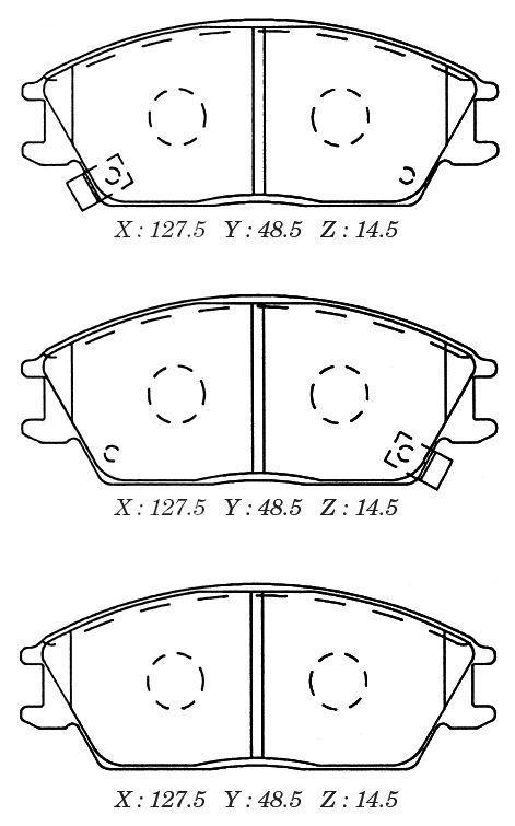D11091M Колодки тормозные HYUNDAI ACCENT/GETZ передние