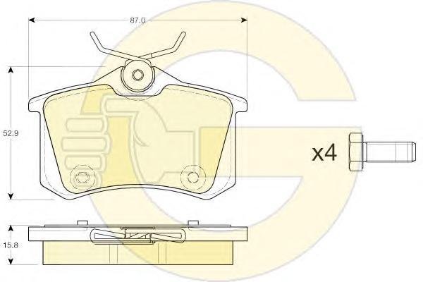 6119731 Колодки тормозные AUDI 96-/CITROEN 99-/RENAULT 98-/PEUGEOT 00-/VW 95- задние